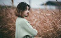 宁波杭州湾湿地公园偶遇一女孩